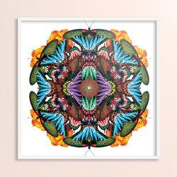 butterfly circle pattern - LP데코 겸용 액자