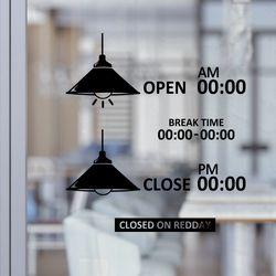오픈앤클로즈 램프 포인트스티커