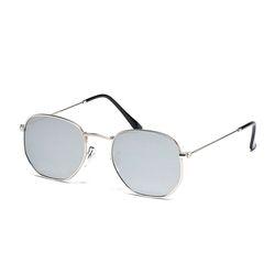 포 미러 선글라스 (실버)