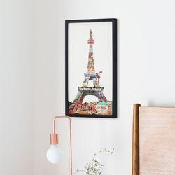 무아스 핸드메이드 콜라주 아트 액자 - 에펠탑