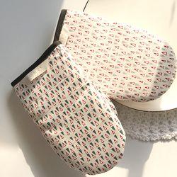 삼각 패턴 면 주방장갑(그레이)