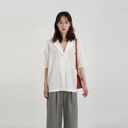 carry v-neck blouse (3colors)