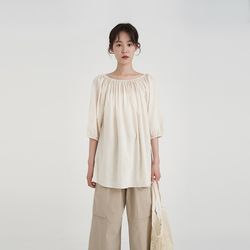 linen off blouse (2colors)