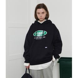 [L] Twofold recycle hoodie-navy