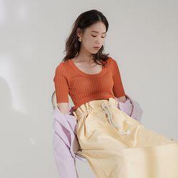 U-neck golgi knit (5colors)