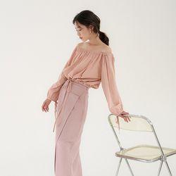 strap off blouse (2colors)