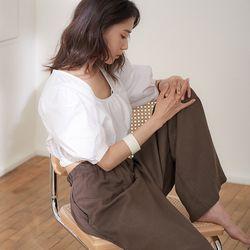 loyd crop blouse (2colors)