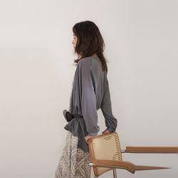 muji balloon blouse (2colors)