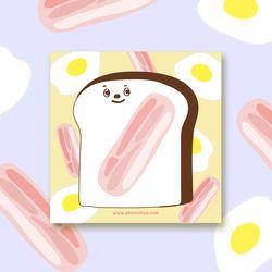 egg bacon toast memo