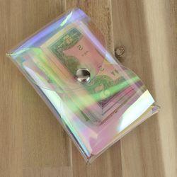 투명 플라워 카드지갑