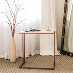 책상형 사이드테이블 라벤더 화이트 대리석