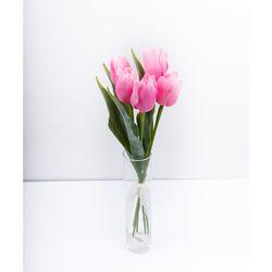 [웨딩부케] 핑크 튤립 조화부케
