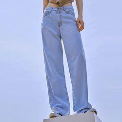 flimsy wide denim pants (s m)