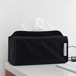 Nylon Black Tissuebox Cover