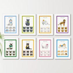 it005-동물들의감정표현고양이액자세트