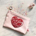 HEART AWESOME 핑크 스트로베리 미니 파우치-baby pink