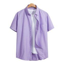 옥스포드 포켓 반팔 셔츠 SHT091