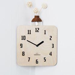 (ktk105)인코너벽시계(내츄럴)