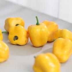 미니 노란피망 모형(5cm-10개)