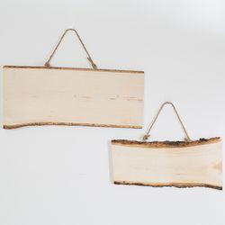 나무 사각 팻말(소)