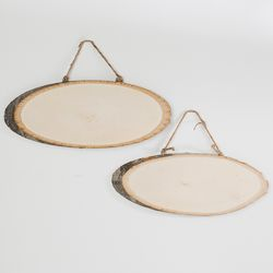 나무 타원형 팻말(대)