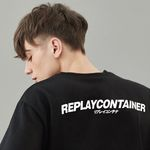 replaycontainer sig cotton tee (black)