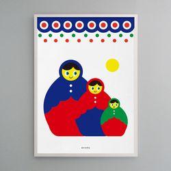 유니크 디자인 포스터 M 마트료시카 A3(중형)