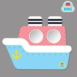[니노 브랜드 중복상품] 니노 미러보드 안전거울 욕실거울 (파랑배)