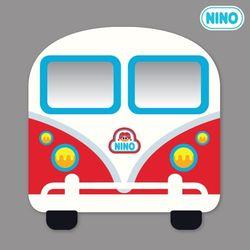 [니노 브랜드 중복상품] 니노 미러보드 안전거울 (미니버스빨강 정면)