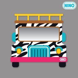 [니노 브랜드 중복상품] 니노 미러보드 안전거울 (사파리차 정면)