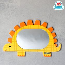 [니노 브랜드 중복상품] 니노 미러보드 미니 안전거울 (스테고사우르스)