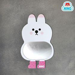 [니노 브랜드 중복상품] 니노 미러보드미니 안전거울 (흰토끼)