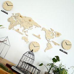실크로드 세계지도 벽시계(소)