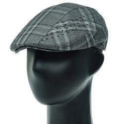 [더그레이]DDH03.톤온톤 체크 펀칭 헌팅캡 남성 모자