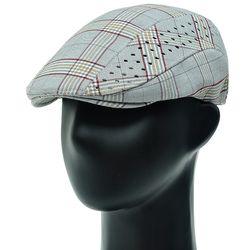 [더그레이]DDH01.클래식 체크 펀칭 헌팅캡 남성 모자