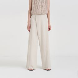 linen wrap detail pants (3colors)