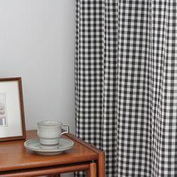 데이드림 체크 커튼 black- S(135x150cm)