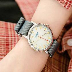 CULET 큐렛 CL10617-SVGD 남녀 나토밴드시계