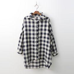 Linen Gingham Check Shirts