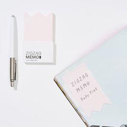 지그재그 메모(zigzag memo) - 베이비 핑크