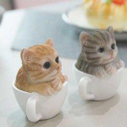 미니 컵속의 고양이