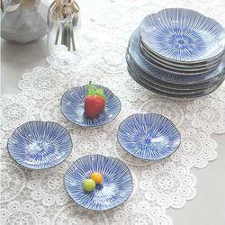 일본산 아키나 접시 중 4P세트