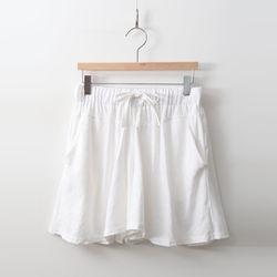 Linen Wide Skorts - 치마바지