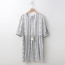 Ethnic Tassel Mini Dress