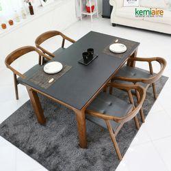 티아모 4인 천연화산석식탁SET(의자형) KHD-806