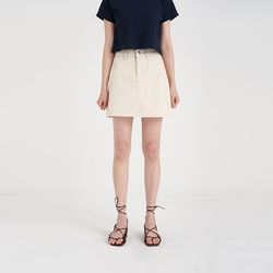 basic cotton mini skirt (4colors)
