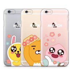 카카오프렌즈 꽃 투명 젤리케이스.아이폰5S(SE)