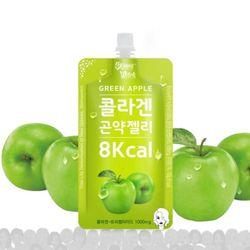 [무료배송] 스키니윗치 콜라겐 곤약젤리 그린애플 + 맛보기3종