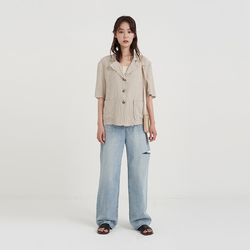 natural linen jacket (3colors)