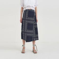 paisley unbal skirt (2colors)
